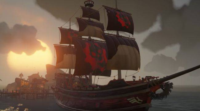 Sea of Thieves is giving away a Gears of War-inspired ship set for a week