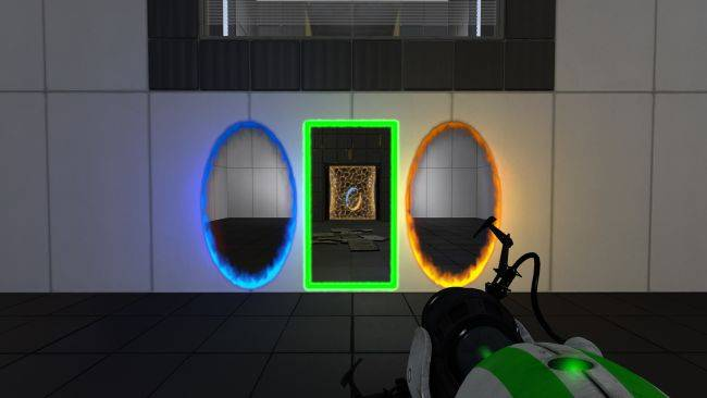 Portal Reloaded adds a third portal and the fourth dimension