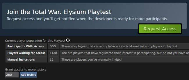 Steam Playtest solves some big problems with beta keys