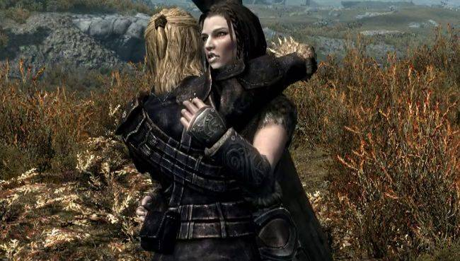 Hug it out with this cuddly Skyrim mod