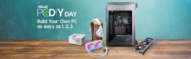 Asus's PC DIY Day on December 3 will make PC building as easy as 1, 2, 3 with giveaways and contests