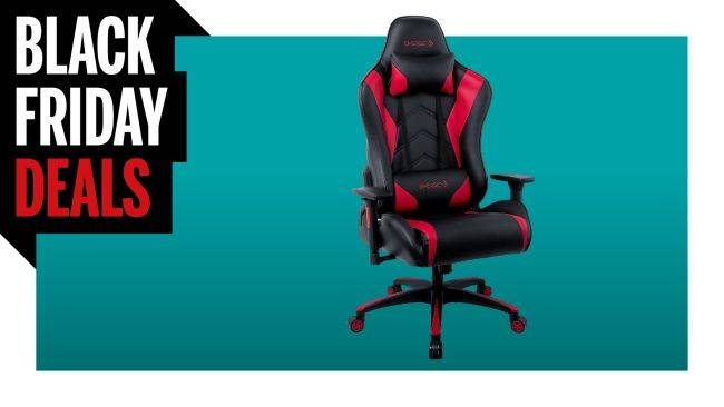 This swanky gaming chair with head and lumbar support is just $149 for Black Friday
