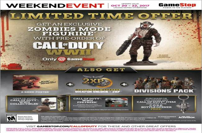 Call of Duty: WWII Gets Special Zombie Figurine Pre-Order Bonus at GameStop