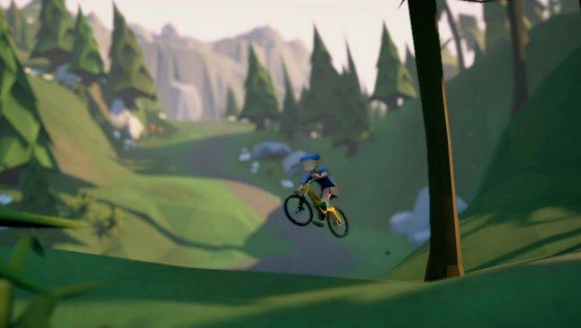 Choose, ride and inevitably crash a mountain bike in Lonely Mountains: Downhill