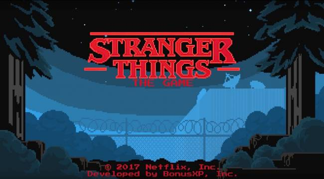 Of course there's retro-inspired 'Stranger Things' mobile game