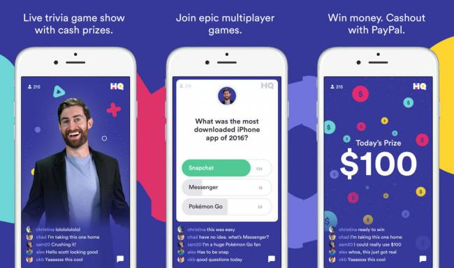 The creators of Vine built a trivia show app called HQ