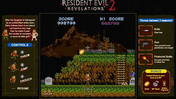 Resident Evil: Revelations 1 and 2 for Switch add exclusive retro minigames