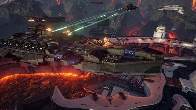 Space-battleship shooter Dreadnought is out now and free-to-play