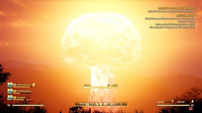 Watch a nuke getting dropped on us in Fallout 76