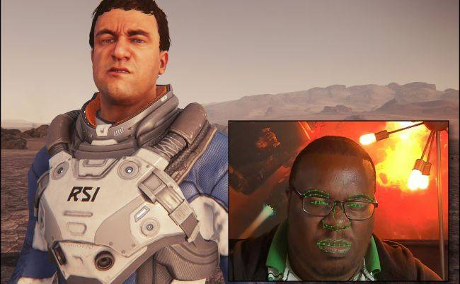 Star Citizen alpha 3.3 will use your webcam to map facial expressions onto your character