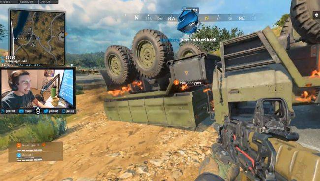 Shroud traps Ninja under a truck in Blackout, hilarity and game physics ensue