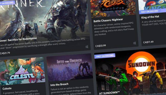 The Discord game store is now open