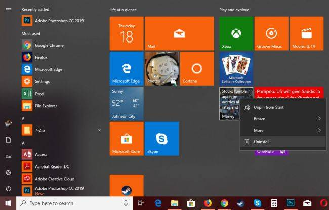 Latest Windows 10 preview makes it easier to remove preinstalled apps