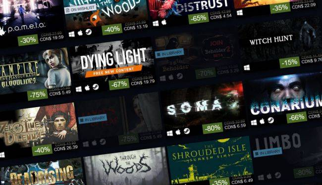The Steam Halloween Sale 2018 is live