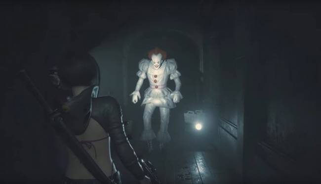 What If Pennywise Haunted Resident Evil 2? A New Mod Shows Us The Horror