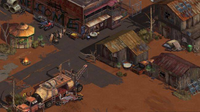 Broken Roads is a philosophical CRPG set in a post-disaster Australian outback