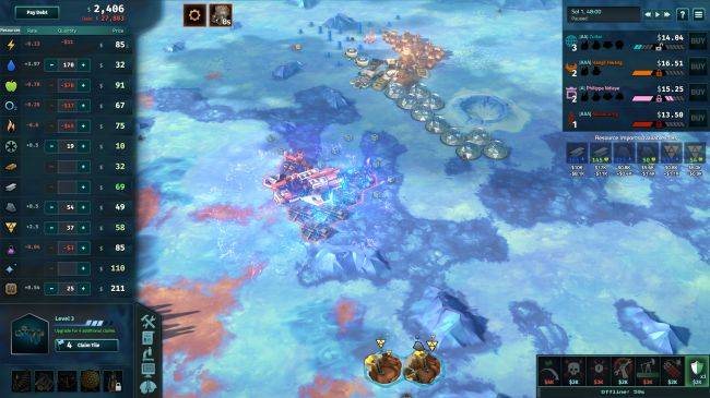 Offworld Trading Company is going to a cold, gassy moon in the next expansion