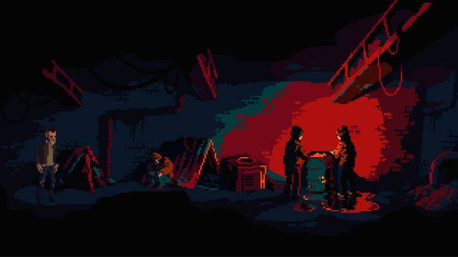 The Drifter is a pulpy point-and-click from the developers of Crawl