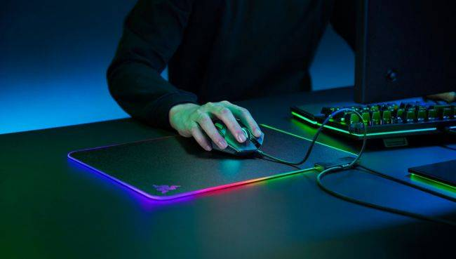 Razer made a brighter and thinner version of its original RGB mouse pad