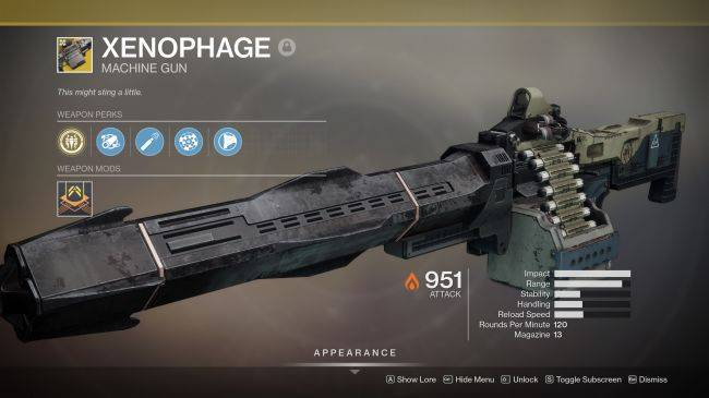 Xenophage, the Destiny 2 machine gun with a bug in it, is also bugged