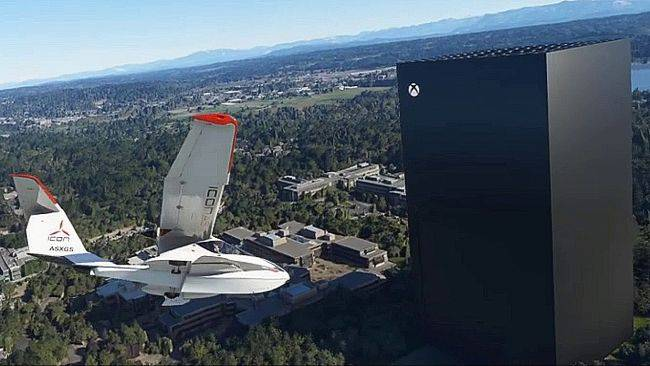 Microsoft Flight Simulator player adds a towering Xbox Series X to Redmond, Washington