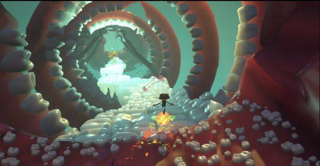 Psychonauts 2 features a spinning tunnel of teeth, unfortunately