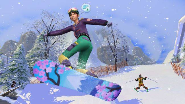 The Sims 4 Snowy Escape expansion will take you skiing and rock-climbing next month