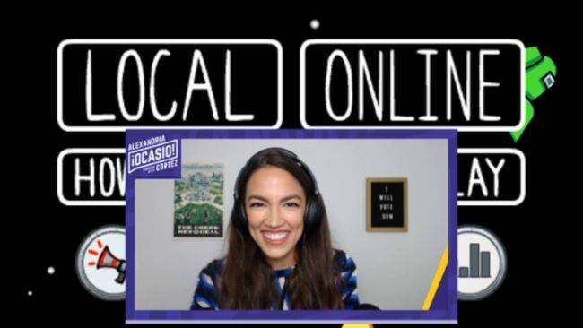 Over 400,000 people tuned in to watch Alexandria Ocasio-Cortez play Among Us yesterday