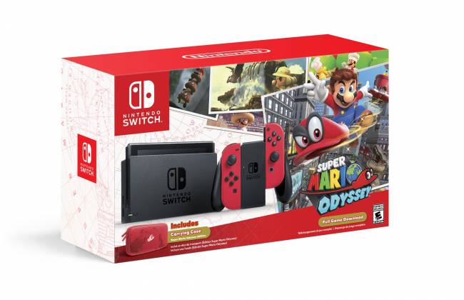 Play 'Super Mario Odyssey' in style with this themed Switch bundle