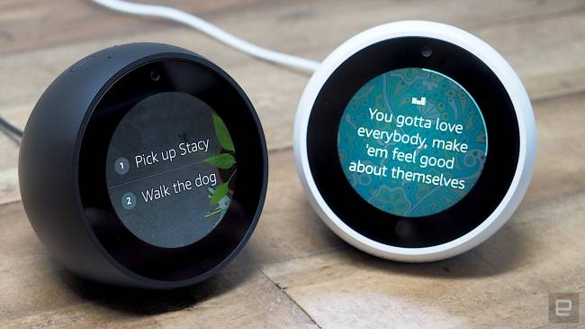Amazon's Echo Spot is a cuter version of the Echo Show