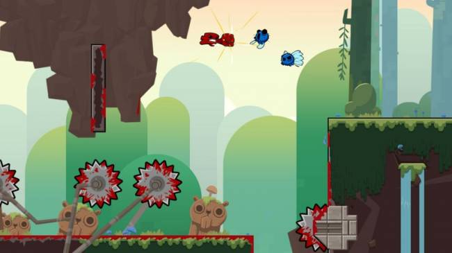 Super Meat Boy Forever Shows How You Fight A Boss In An Auto Runner