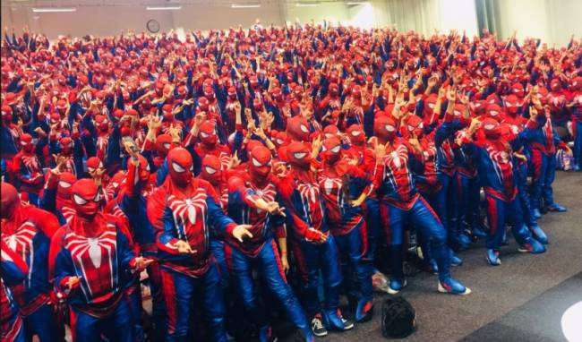 547 People Dress As Spider-Man To Break World Record