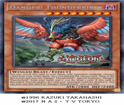 Exclusive Card Reveal: Yu-Gi-Oh Danger! Thunderbird!