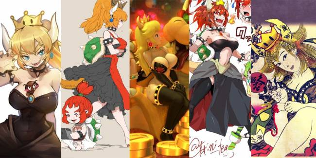 Princess Bowser is a fan creation and it's a transformation that's sweeping the nation