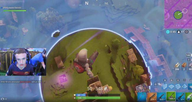 Watch a low-gravity field go haywire during a $1.5 million Fortnite tournament