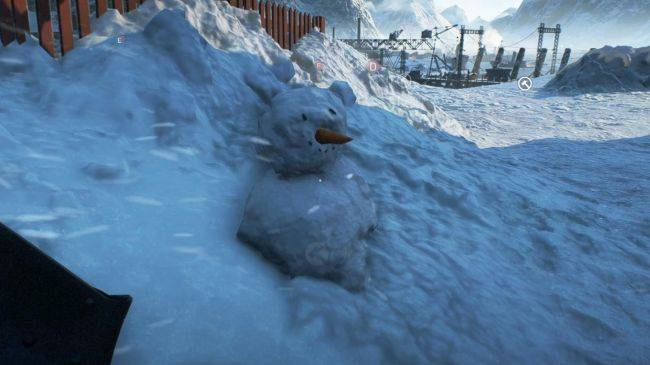 You can build a snowman in Battlefield 5