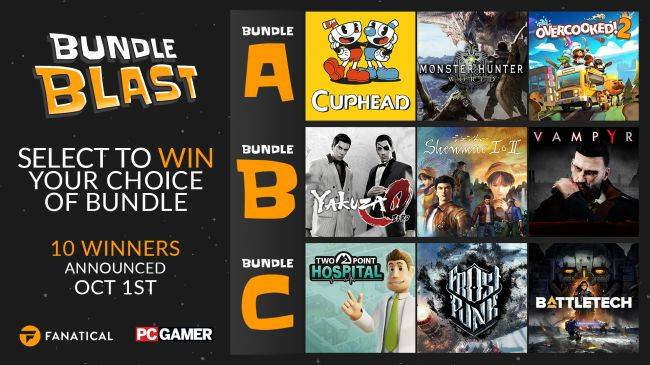 Win one of three great Steam bundles with Fanatical