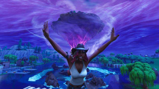 Fortnite's flying Loot Lake island is moving around