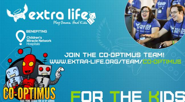 Join the Co-Optimus Team for Extra Life 2018