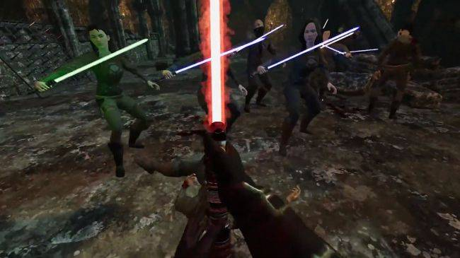 Watch this guy murder tons of Jedi in VR using Star Wars mods