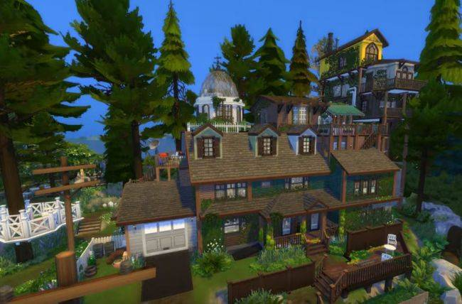Someone has built the What Remains Of Edith Finch house in The Sims 4 and it's incredible