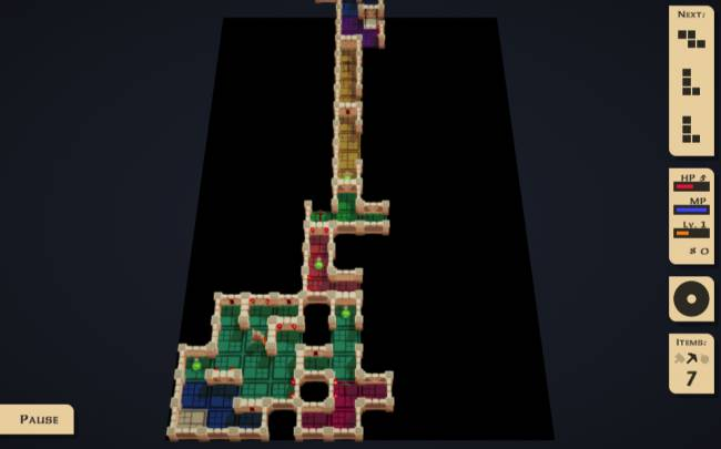 This game turns Tetris into a roguelike dungeon crawler, and it's playable in your browser