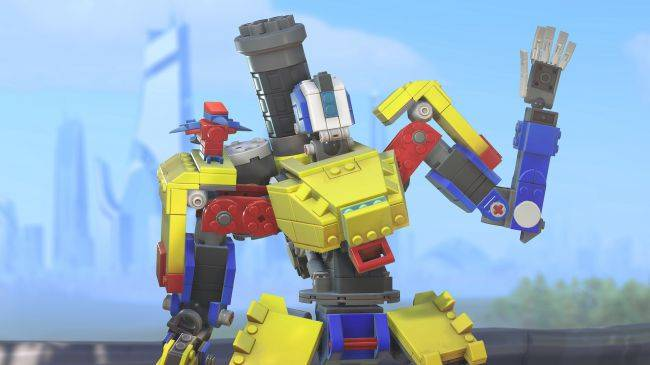 New Overwatch event lets players earn a Lego-themed Bastion skin