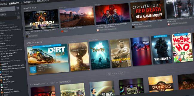 The big Steam library update is now available to everyone