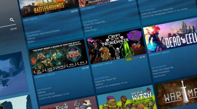 Steam gets a new 'Deep Dive' discovery tool and Community Recommendations