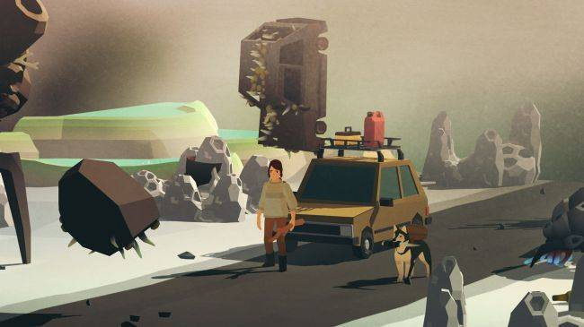Overland, the strategy game about driving through the apocalypse with dogs, is out now