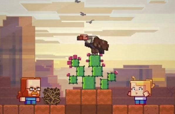 Minecraft's Badlands biome will get tumbleweed and vultures if it wins MineCon vote