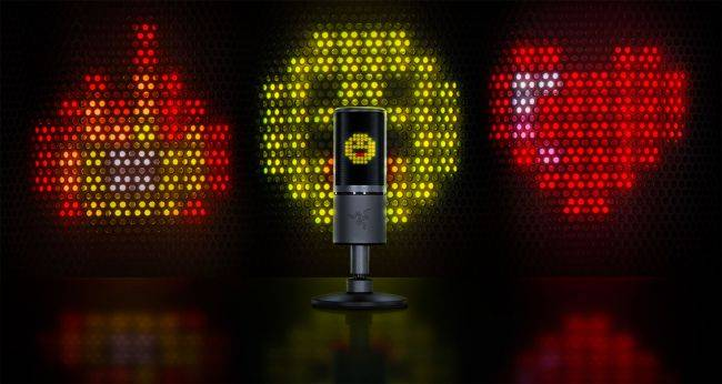 Razer's new RGB microphone displays interactive emoticons while streaming