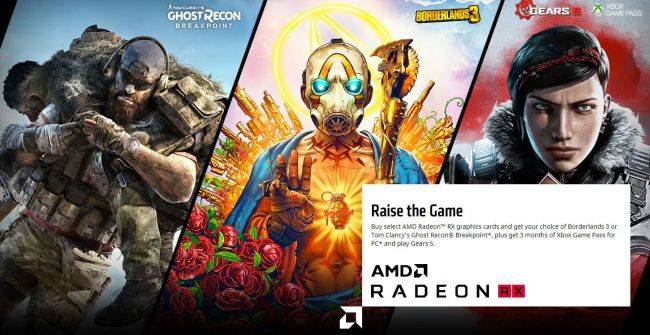 You can claim up to three free games if building an AMD-powered PC