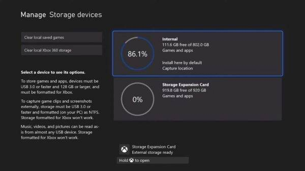 Xbox Series X 1TB storage only uses 800GB for games